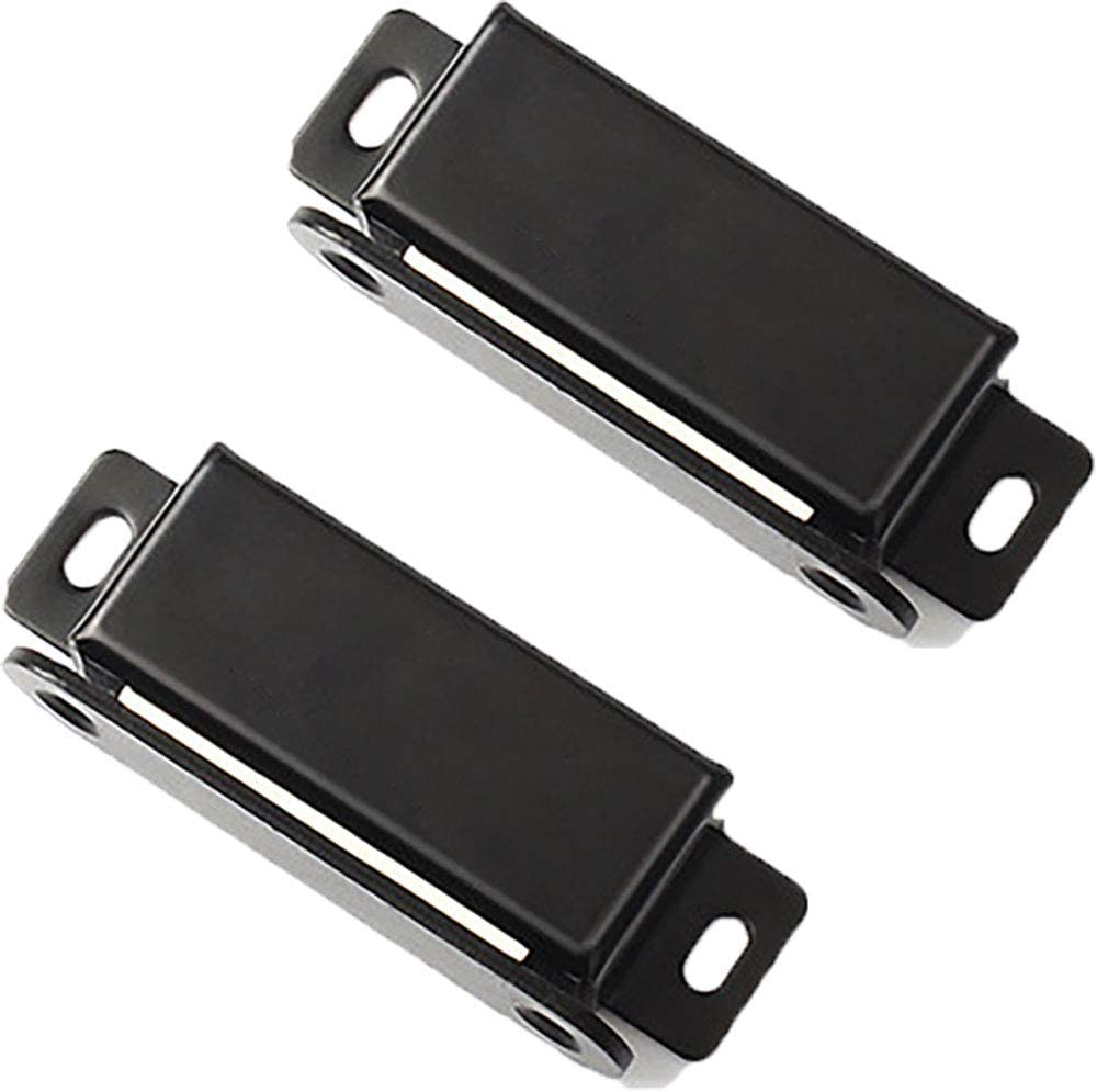 Kitchen Cabinet Magnets Closure WENJUUS 2 Pack Cabinet Magnetic Catch Strong Cupboard Door Magnets Heavy Duty 40 lbs Metal RV Drawer Latch Closet Closing Stainless Steel Shutter Hardware Closer-Black