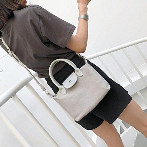 Gray Retro Bags With Women's Corssbody Bag Zipper YJYDADA Bags Beige Shoulder Canvas amp;Handbag 7xfUg5w