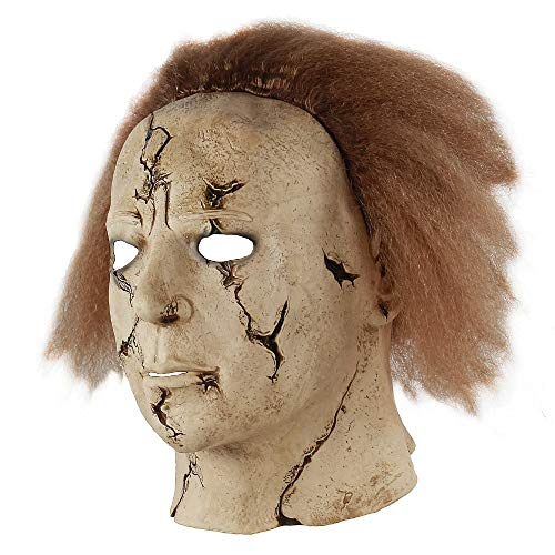 Scary Michael Myers Mask Horror Movie Halloween Cosplay Adult Latex Party Mask Latex Killer Michael Myers Mask Full Head Mask (multcolor) ()