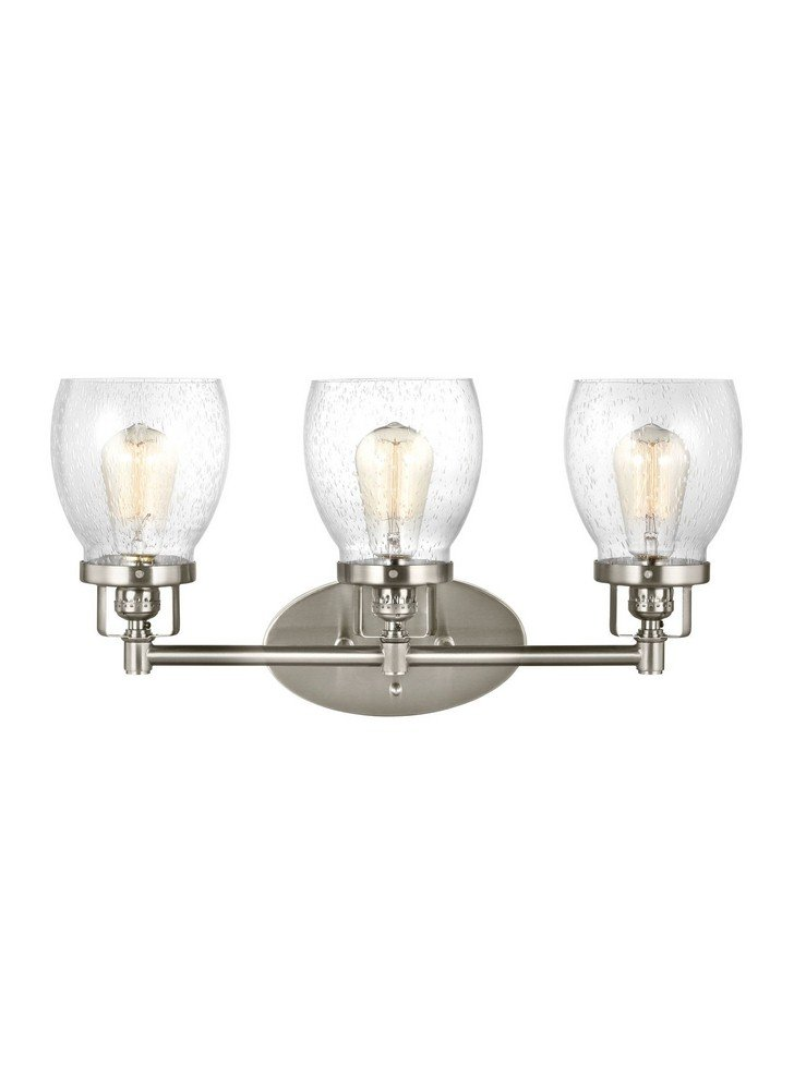 Sea Gull 4414503-962 Belton Vanity, 3-Light 180 Total Watts, Brushed Nickel by Sea Gull Lighting