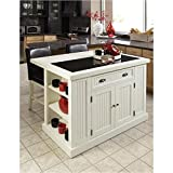 Home Styles 5022-94 Nantucket Kitchen Island, Distressed White Finish