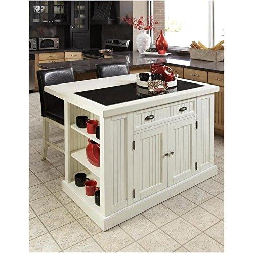 Home Styles 5022-94 Nantucket Kitchen Island, Distressed White Finish