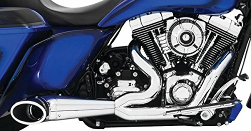 Freedom HD00509 Exhaust (2 To 1 Turnout Chrome With Sculpted Black Tip),1 (Turnout Tip)
