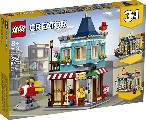 LEGO Creator 3in1 Townhouse Toy Store 31105, Cool Buildable Toy for Kids Building Kit (554 Pieces)