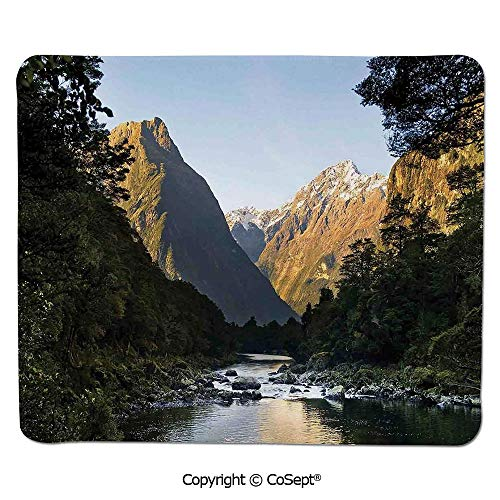 Mouse Pad,Photo of Stunning Mountains with Snowy Peaks and Valley with River Peace Nature,for Laptop,Computer & PC (15.74