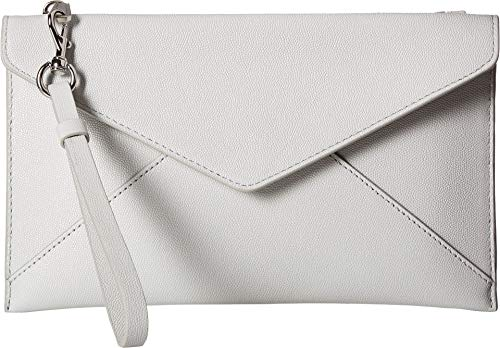 Rebecca Minkoff Women's Leo Wristlet Ice Grey One Size