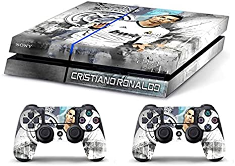 Skin PS4 HD CRISTIANO RONALDO REAL MADRID - limited edition DECAL COVER ADHESIVO playstation 4 SONY BUNDLE