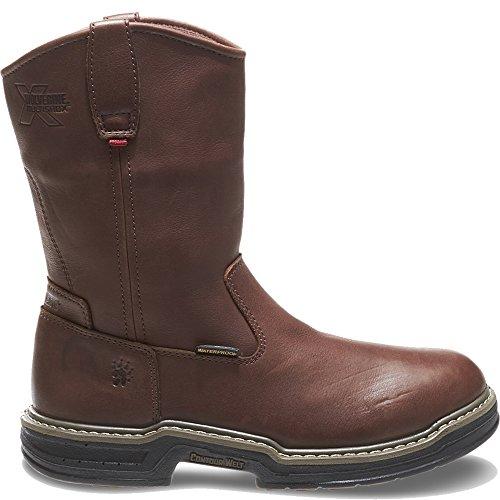 Wolverine Multishox Waterproof Steel Toe (Wolverine Men's W04827 Buccaneer Boot, Dark Brown, 11 M US)