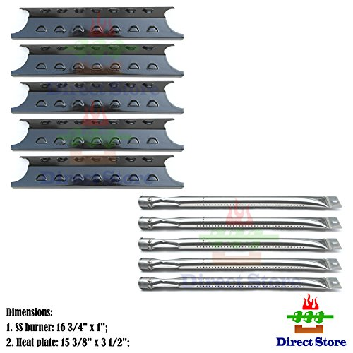 Direct store Parts Kit DG193 Replacement Master Forge 5 Burner Gas Grill L3218, 3218LTN Grill Burner, Heat Plate