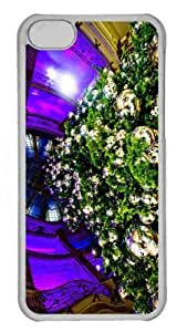 Customized iphone 5C PC Transparent Case - Father Christmas 2 Personalized Cover