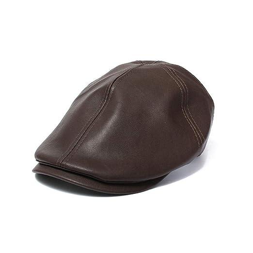 Funihut - Gorra de Piel Vintage de cabecero de Piel para Hombre y ...