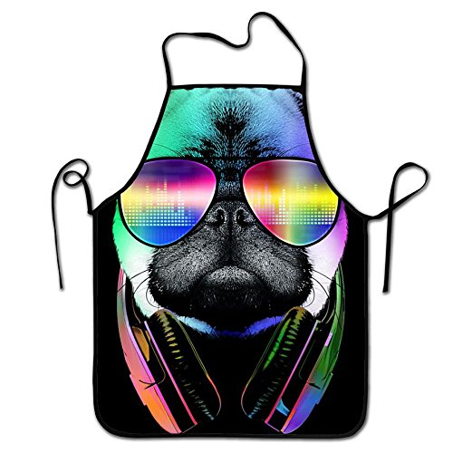 Rossne G sun Custom Cool Sunglasses Headset Serious Pugs Comfortable Garden Kitchen Aprons Adjustable Neck - Near Sunglasses Store Me