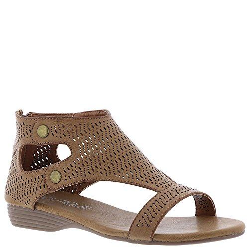 5c5915eadc3bfe Corkys Footwear Womens Ladies Brown Perforated Sandals (9 B(M) US