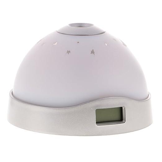 homyl despertador digital Matinal con lámpara de proyector ...