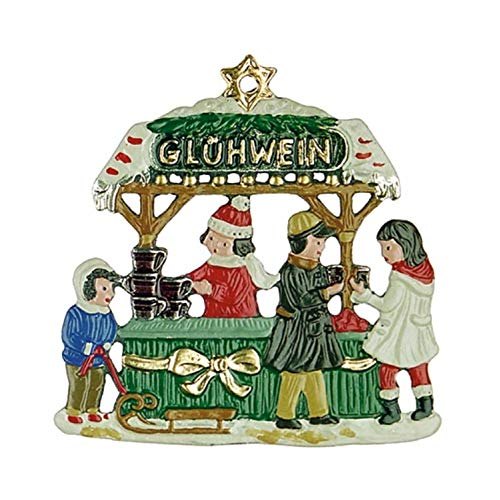 Pewter Christmas Decorations - Pinnacle Peak Trading Company Gluehwein Christmas Wine Stand German Pewter Ornament Decoration Made in Germany
