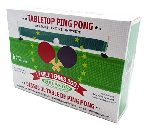 Anywhere Table Tennis to Go Set - Tabletop Ping Pong by Relaxus