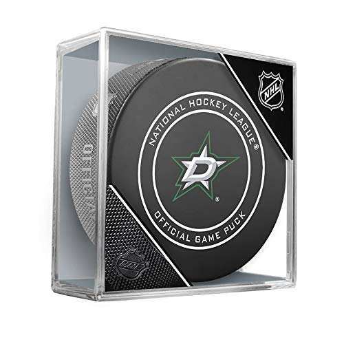 NHL Dallas Stars Official Game Hockey Puck with Holder