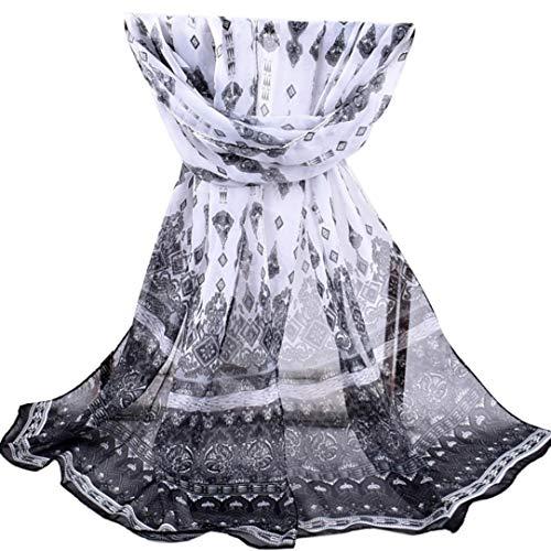HYIRI Women Printed Soft Chiffon Shawl Wrap Wraps Scarf Scarves -