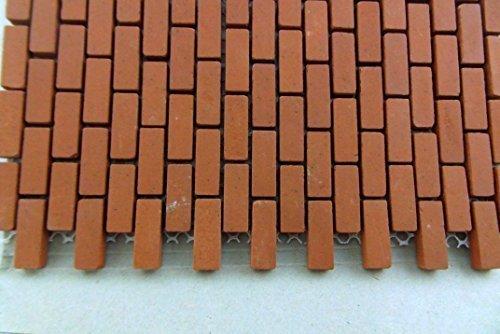 Town Square Miniatures Dolls House Miniature 1:12 Mesh Sheet Of Genuine Kiln-Fired Real Model Bricks