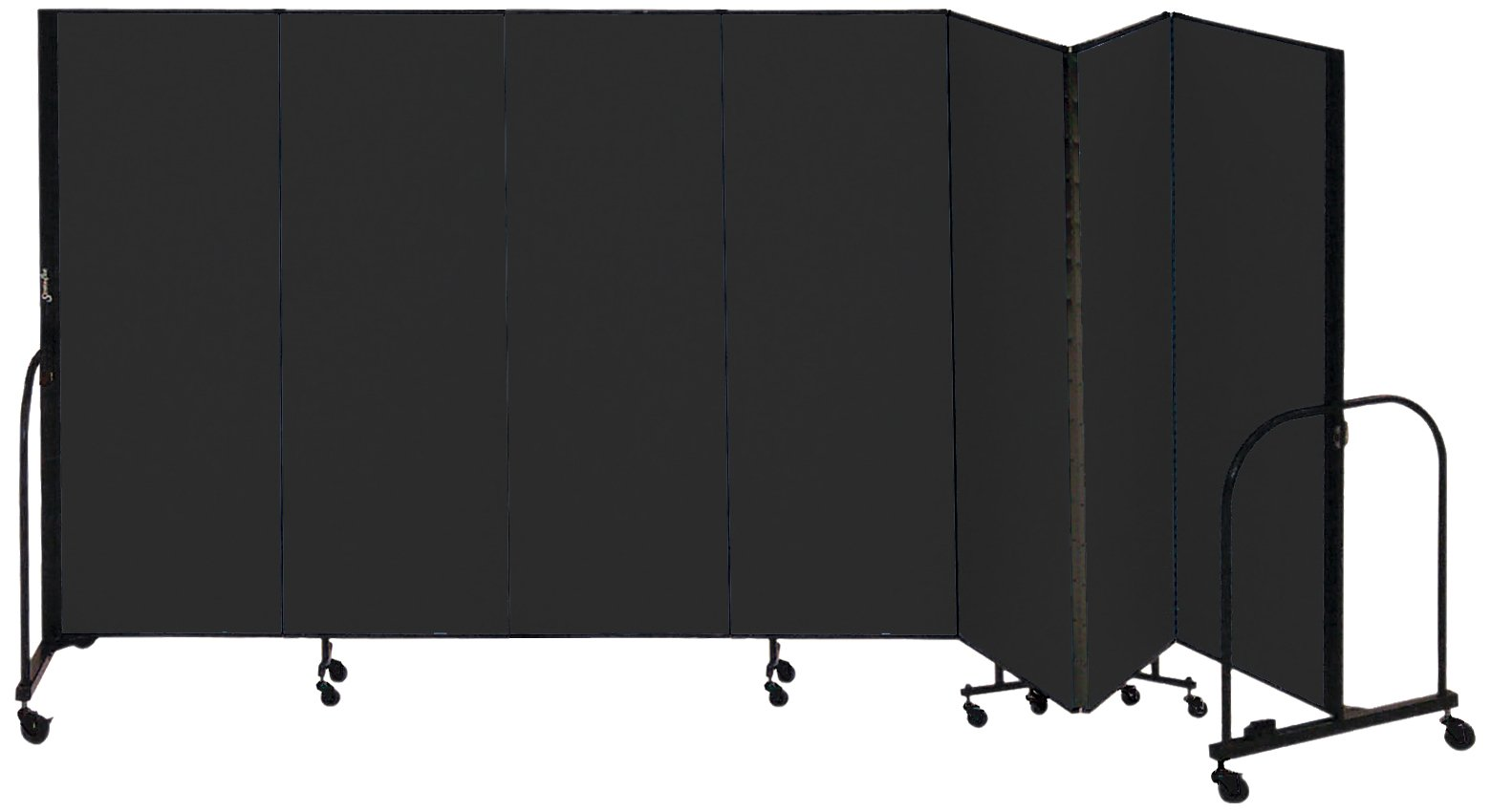 Screenflex Commercial Portable Room Divider (CFSL607-DX) 6 Feet High by 13 Feet 1 Inches Long, Designer Black Fabric