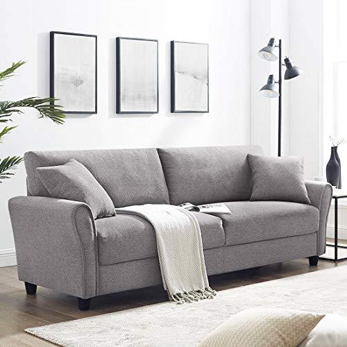 Furny Vonada Fabric 3 Seater Sofa Set  Light Grey