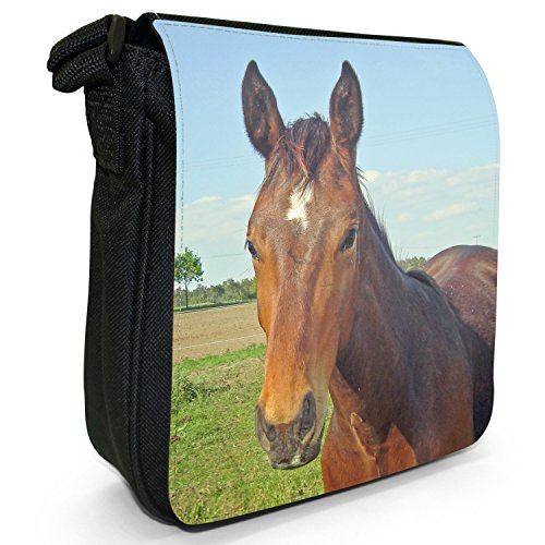 Shoulder Bag Horse In Black Small Beautiful Canvas Brown Young Elegant Size Horses Field TwRWPYq0