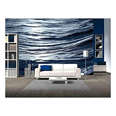 Elegant Handicraft, Created By a Professional Artist, Sea Wave Close Up at Night Low Angle View
