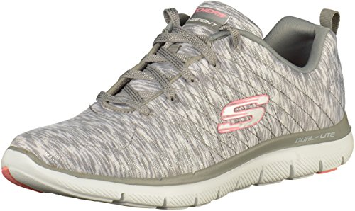 Skechers Shoes Flex Appeal 2.0-Reflection Grey/White Size: 36