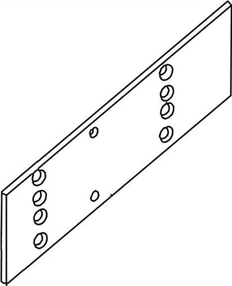 Montageplatte f/ür T/ürschlie/ßer GEZE TS 2000