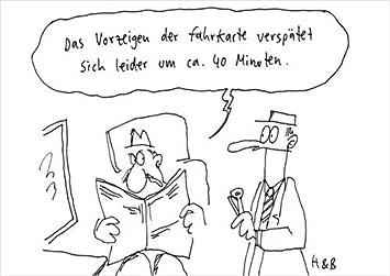 Postkarte A6 39516 Vorzeigen Der Fahrkarte Von Inkognito Kunstler Hauck Bauer H B Satire Cartoons Amazon De Burobedarf Schreibwaren