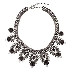 Just Showoff Women's Alloy Gray Pine Cone Necklace