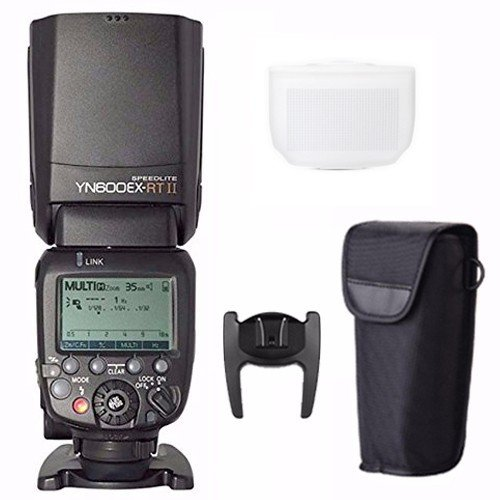 Electronic Slave Unit - YONGNUO Updated YN600EX-RT II Wireless Flash Speedlite with Optical Master and TTL HSS for Canon AS Canon 600EX-RT w/ EACHSHOT Diffuser