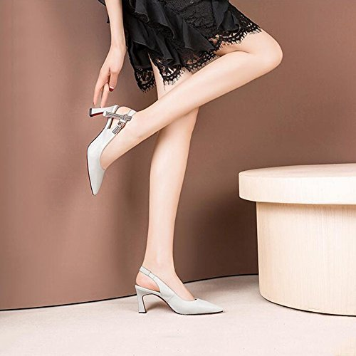 Femmes Talons Cm Respirant 5 3 EU 5 Pour De Sandales Et Peu Profonde Bouche Chaussures 5 Ly Confortable Hauts DALL CN UK 35 Été 589 Et taille Printemps 35 Escarpins Haut qxRXRZwPf