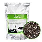 Organic Succulent and Cactus Soil Mix, Fast Draining Pre-Mixed Course Blend (4 Quarts)