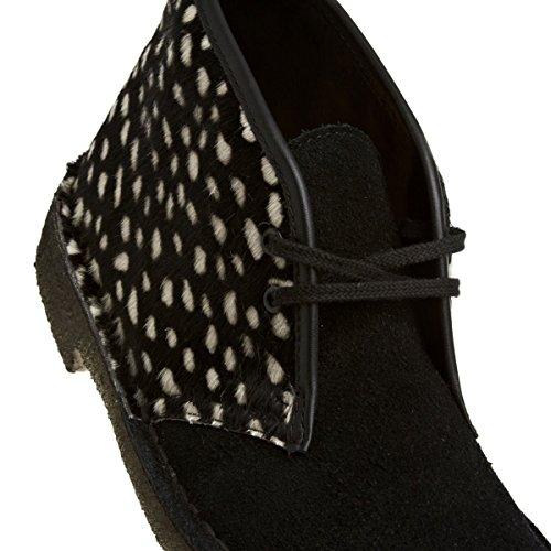 Clarks Desert Boot - Botas de cuero para mujer Negro (Blk Interest Lea)