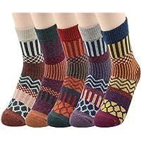 Passionate Adventure Heavyweight 5 Pairs Warm Womens Wool Blend Outdoor Socks