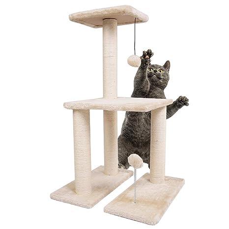 Dimaka Árbol de Actividades para Gatos con Postes rascadores ...