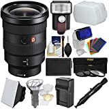 Sony Alpha E-Mount FE 16-35mm f/2.8 GM Zoom Lens LED Light/Flash + Diffuser + Soft Box + Battery & Charger + 3 UV/CPL/ND8 Filters Kit