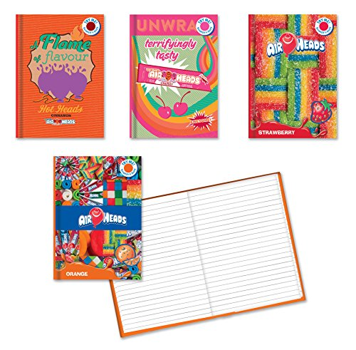 (Pack of 4 AirHeads Specialty Scratch and Sniff Hardback Journals. 5.5