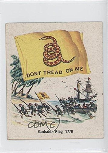gadsden-flag-1776-comc-reviewed-good-to-vg-ex-trading-card-1976-quality-bakers-flags-of-america-base