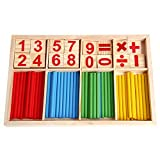 Thobu Children's Day Gift Baby Kids Toys Gifts Math Manipulatives Wooden Counting Sticks Baby Kids Preschool Educational Toys
