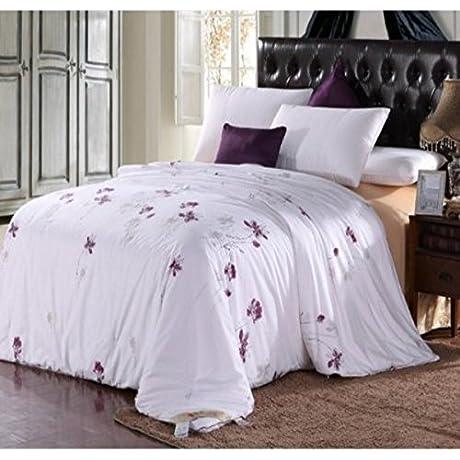 Soft Silker Silk Comforter 100 National Standard Long Mulberry Silk Filled All Season King