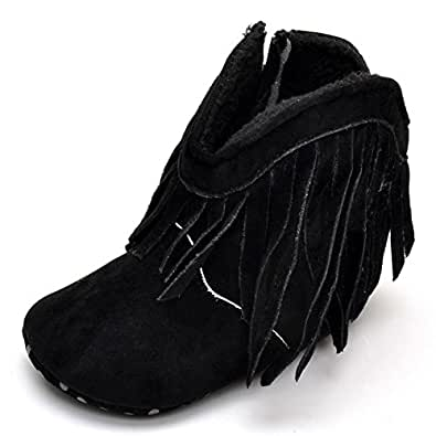 Amazon.com: BININBOX Baby Girls Suede Winter Warm Tassel