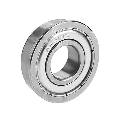 12x28x8 mm 20 PCS Flange Metal Double Shielded Ball Bearing F6001zz