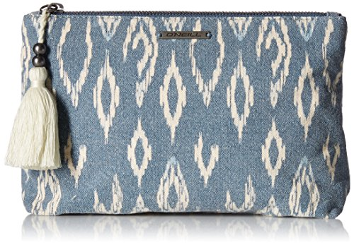 Cloth Clutch (O'neill Junior's Bombay Zip Clutch, Bluestone/Stn, One Size)
