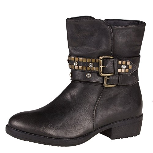 Ital-Design 8279botas para mujer Black - Schwarz 9195