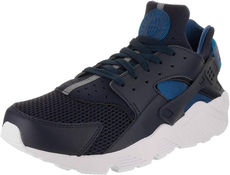 buy popular b05d9 43cd4 Nike AIR Huarache, Baskets Homme, (Obsidienne/Platine Pur/Blanc/Bleu ...