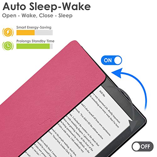 Forefront Cases Smart Case for Kobo Clara HD Case | Magnetic Protective Case Cover for Kobo Clara (2018) | Shell Design | Smart Auto Sleep Wake Function | Slim Lightweight | Red