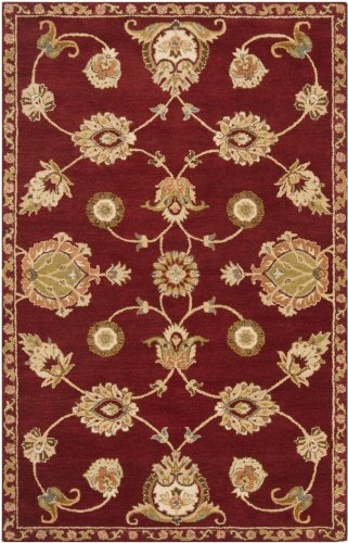 RugPal Transitional Rectangle Area Rug 5'x8' in Crimson Color From Laurel Collection