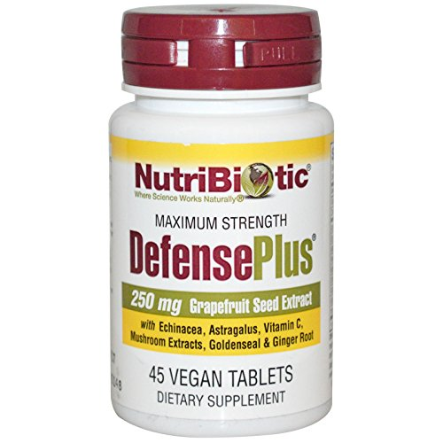 NutriBiotic Defense Plus and Nasal Spray Bundle with Ginger Root Extract, Maitake Mushroom, Grapefruit Seed Extract and Sodium Bicarbonate, 45 ct and 1 fl. oz. each by Nutribiotic (Image #1)